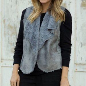 Ella Moss Grey Fur Vest